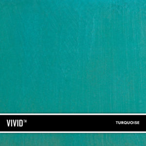 Turquoise VIVID is a reactive acid stain that creates a beautiful variegated appearance by reacting with calcium and lime in concrete and cement-based overlays.