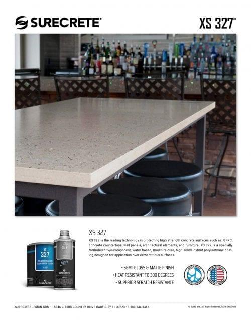 SureCrete's XS-327 Concrete Counter Top Sealer #1 trusted concrete sealer on the market today