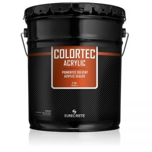 1 Gallon and 5 Gallon Driveways Sidewalk Concrete Colored Paint Low VOC Option ColorTec Acrylic™ by SureCrete