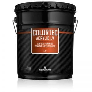 5 Gallons Driveways Sidewalk Concrete Colored Paint Low VOC ColorTec Acrylic LV™ by SureCrete