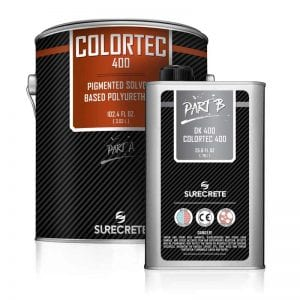 1 and 5 Gallon High Gloss Colored Floor Polyurethane Kits Solvent-Based ColorTec 400™ by SureCrete
