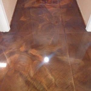 brown metallic indoor floor