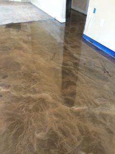 brown pearl metallic floor