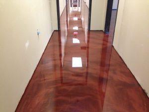commercial hallway metallic floor
