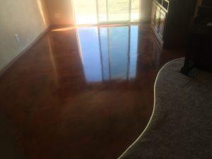dark brown metallic kitchen floor