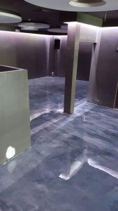 gun metal gray epoxy metallic floor