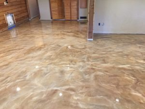 high gloss basement floor