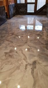 marble looking office metallic floor