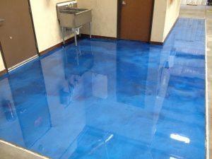 sky blue metallic floor color