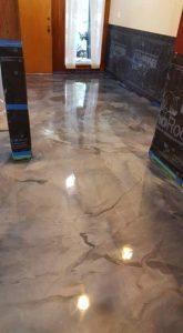 tan metallic office floor