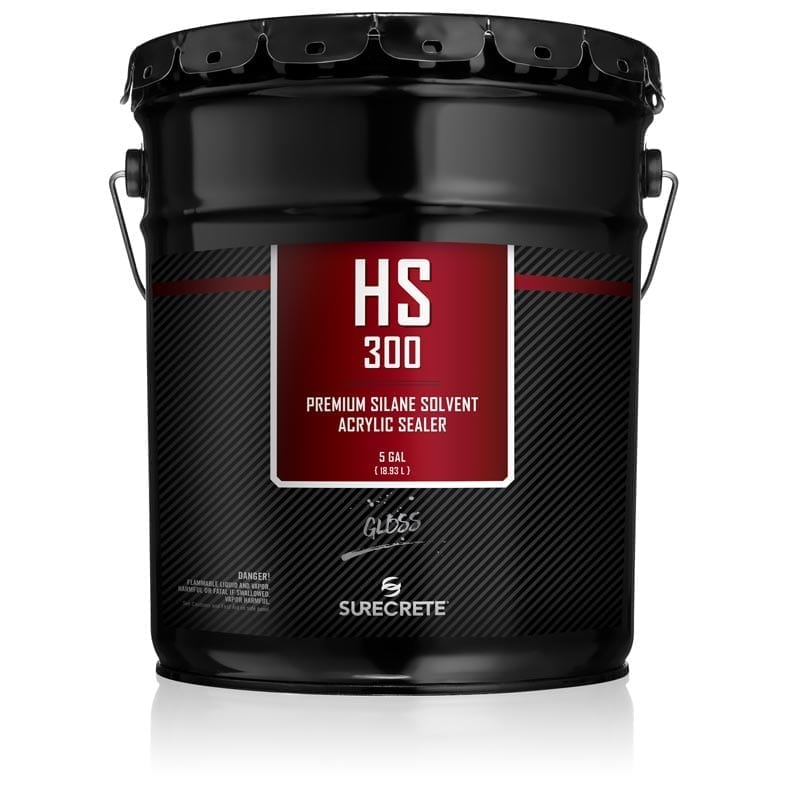 5 Gallon Premium Exterior Concrete Overlay Clear Sealer 30% Solids HS 300™ Series by SureCrete