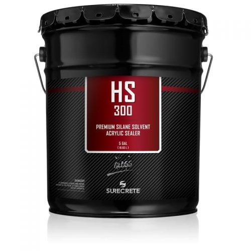 5 Gallon Premium Exterior Concrete Overlay Clear Sealer 30% Solids With Low VOC Option HS 300™ HS 300LV™