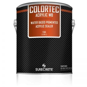 1 Gallon Colored Water-Based Outdoor Concrete Paint and Sealer ColorTec AcrylicWB™