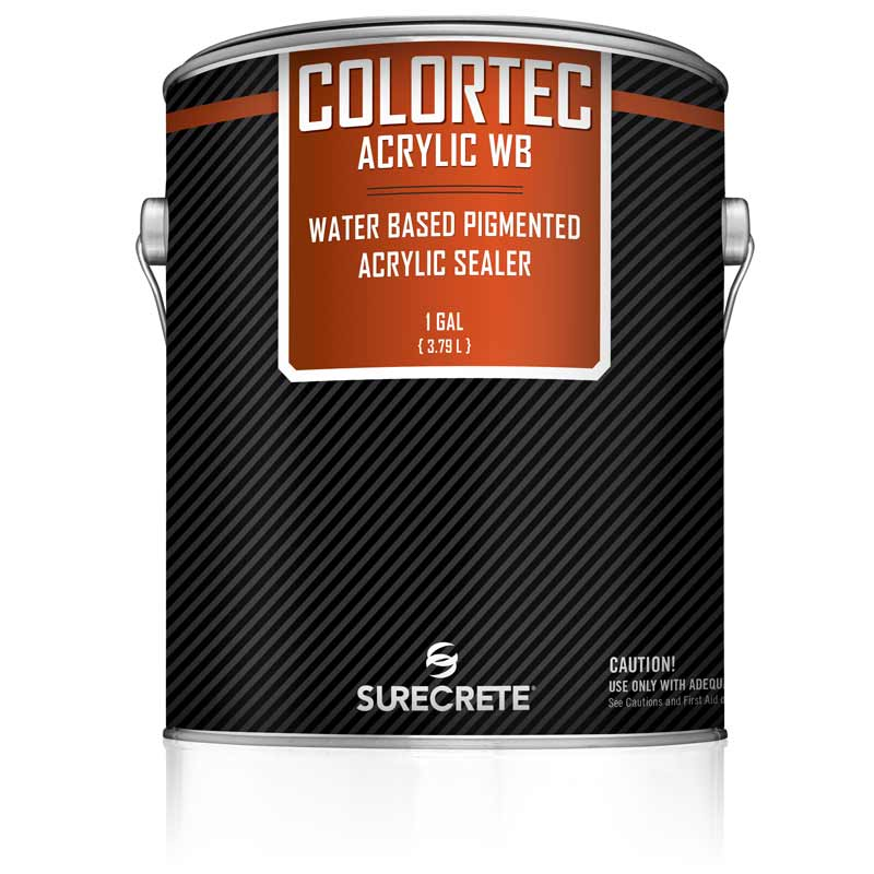 Colored Water Based Outdoor Concrete Paint And Sealer Colortec Acrylicwb