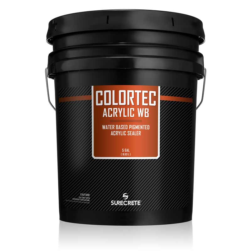 5 Gallon Colored Water-Based Outdoor Concrete Paint and Sealer ColorTec AcrylicWB™