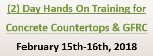 (2) Day Hands On Training for  Concrete Countertops & GFRC