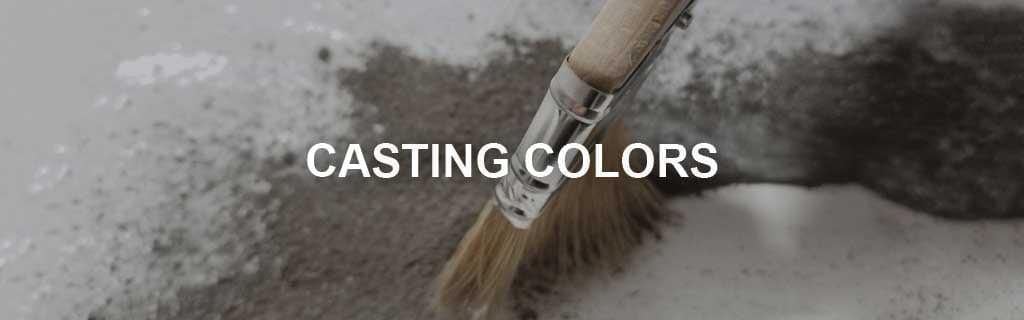 concrete casting color powder casting color