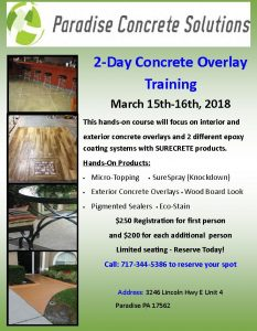 PA Concrete Overlay Training