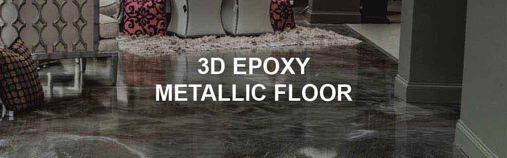 Products Used for Creating Epoxy Metallic 3D Floor Systems