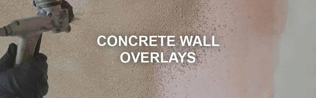 concrete wall overlay stamp spray surecrete products
