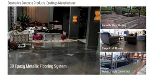 SureCrete Design Products Concrete Products – Epoxies – Clear Sealers – Colored Sealers – Casting – Overlays and Colorants