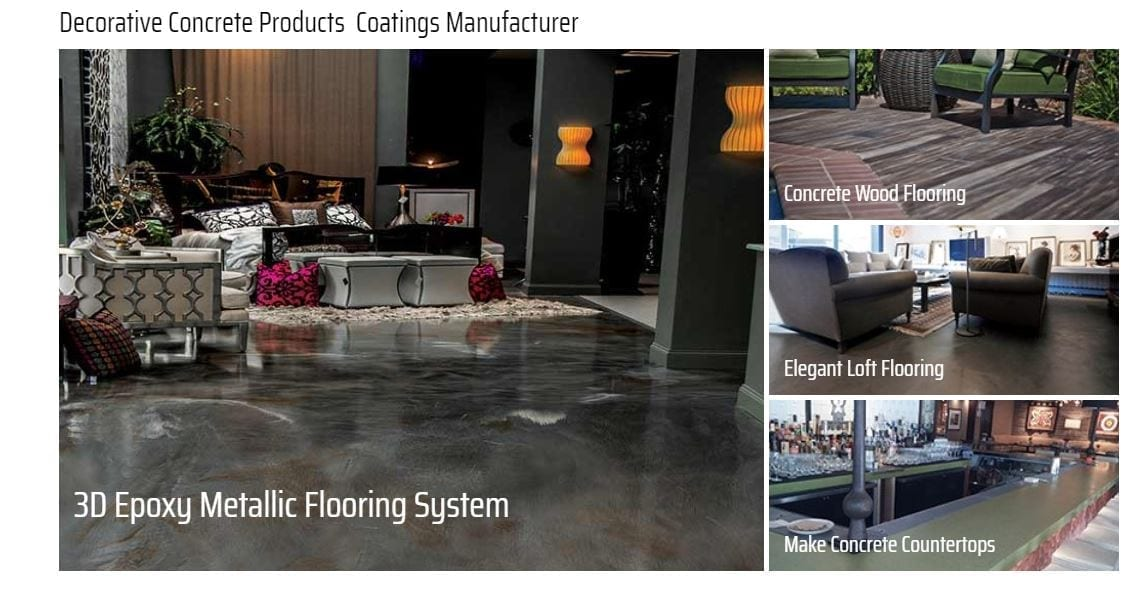 Decorative Concrete Stains - Sealers - Coloring and Epoxy