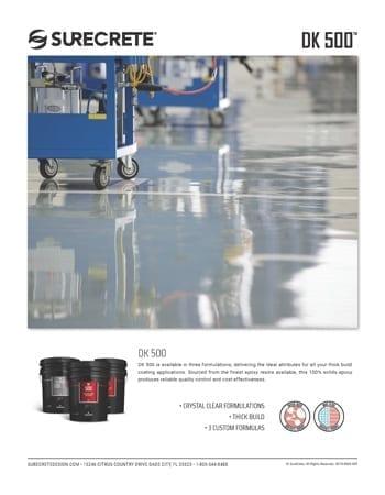 SureCrete DK-500 Sales Sheet