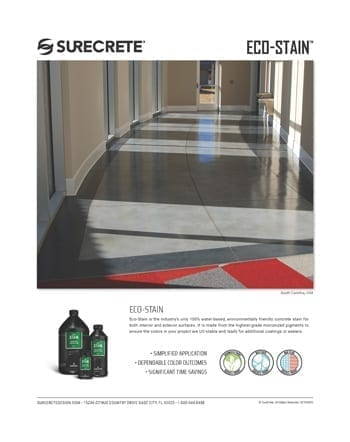 SureCrete Eco Stain Sales Sheet