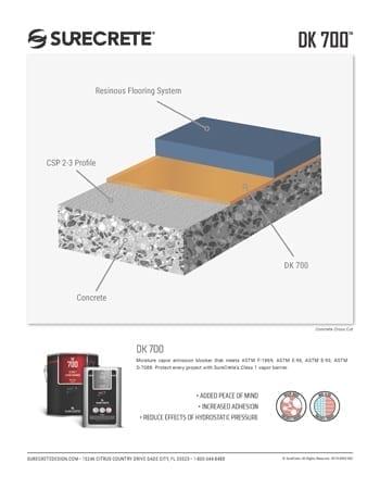 SureCrete DK-700 Sales Sheets